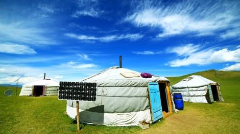 Solar power in Mongolia