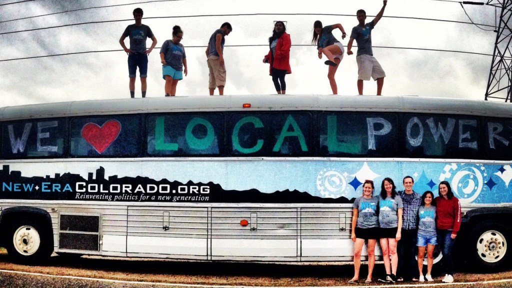 "activists on ""local power"" bus"