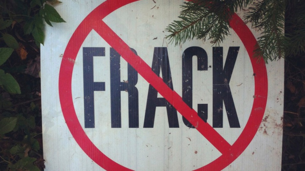 No-fracking sign