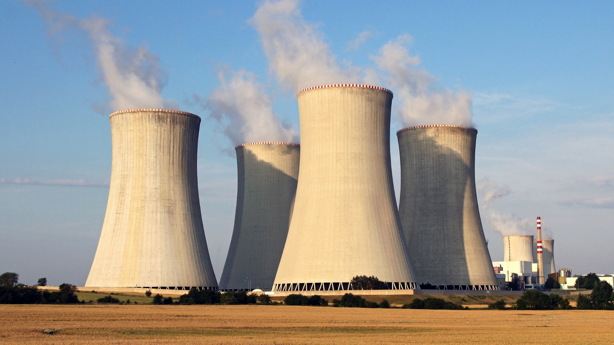 Nuclear power plant cooling towers