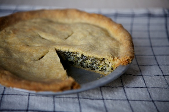 Leek and Greens Tart on Food52