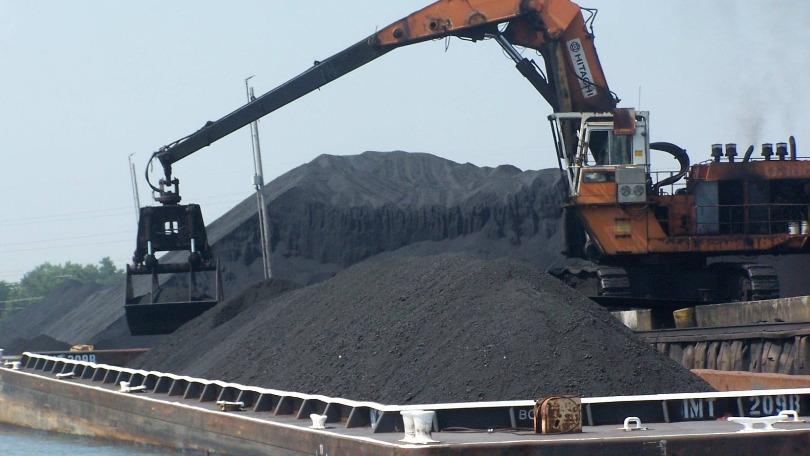 One of the petcoke piles in Chicago