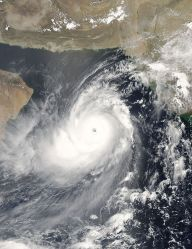 Category 5 Cyclone Gonu in the Arabian Sea on June 4, 2007.