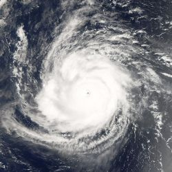 The record-breaking Hurricane and Super Typhoon Ioke on August 24, 2006.