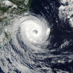 Cyclone Catarina, about to strike Brazil on March 27, 2004.