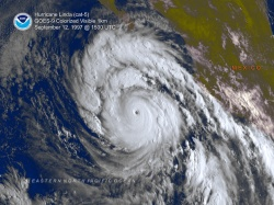 Hurricane Linda on September 12, 1997.