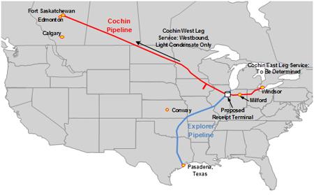 Cochin pipeline map