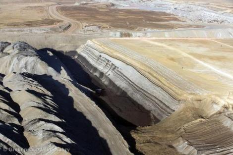 Strip mining coal in the powder river basin is a major source of carbon pollution