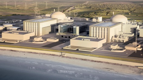 Rendering of Hinkley Point C nuclear plant