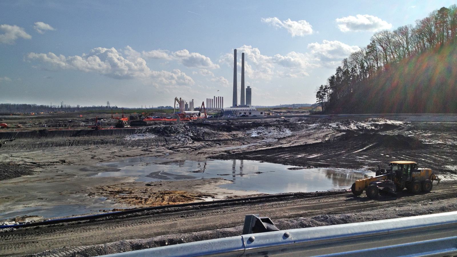 coal slurry mess