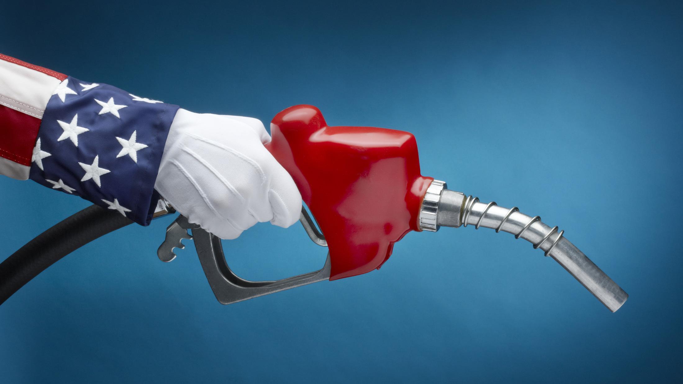 patriotic gas pump
