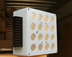 A prototype device designed to repel bats away from wind turbines, from Deaton Engineering.
