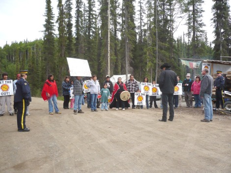 Block party: A Tahltan blockade stops Shell drilling operations.