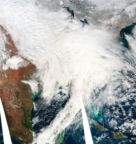 Satellite image of the intense US blizzard of February 5-6, 2010. Click to embiggen.