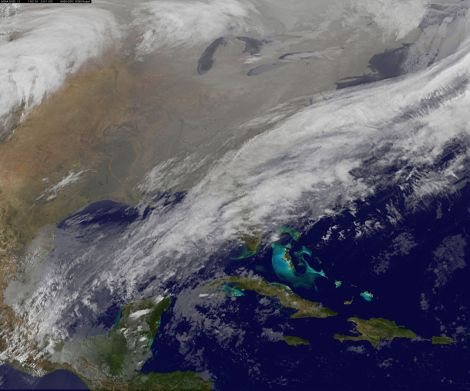 "The ""arctic blanket"" over the U.S.: Not very warm."