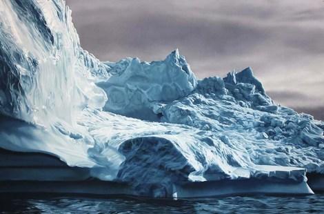 "Greenland #63 / 50""x75"" / Soft pastel on paper"