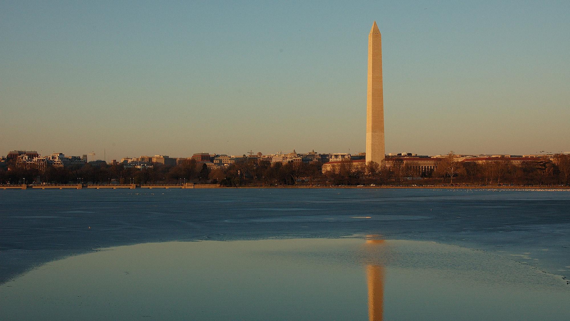 Washington Monument and Potomac River