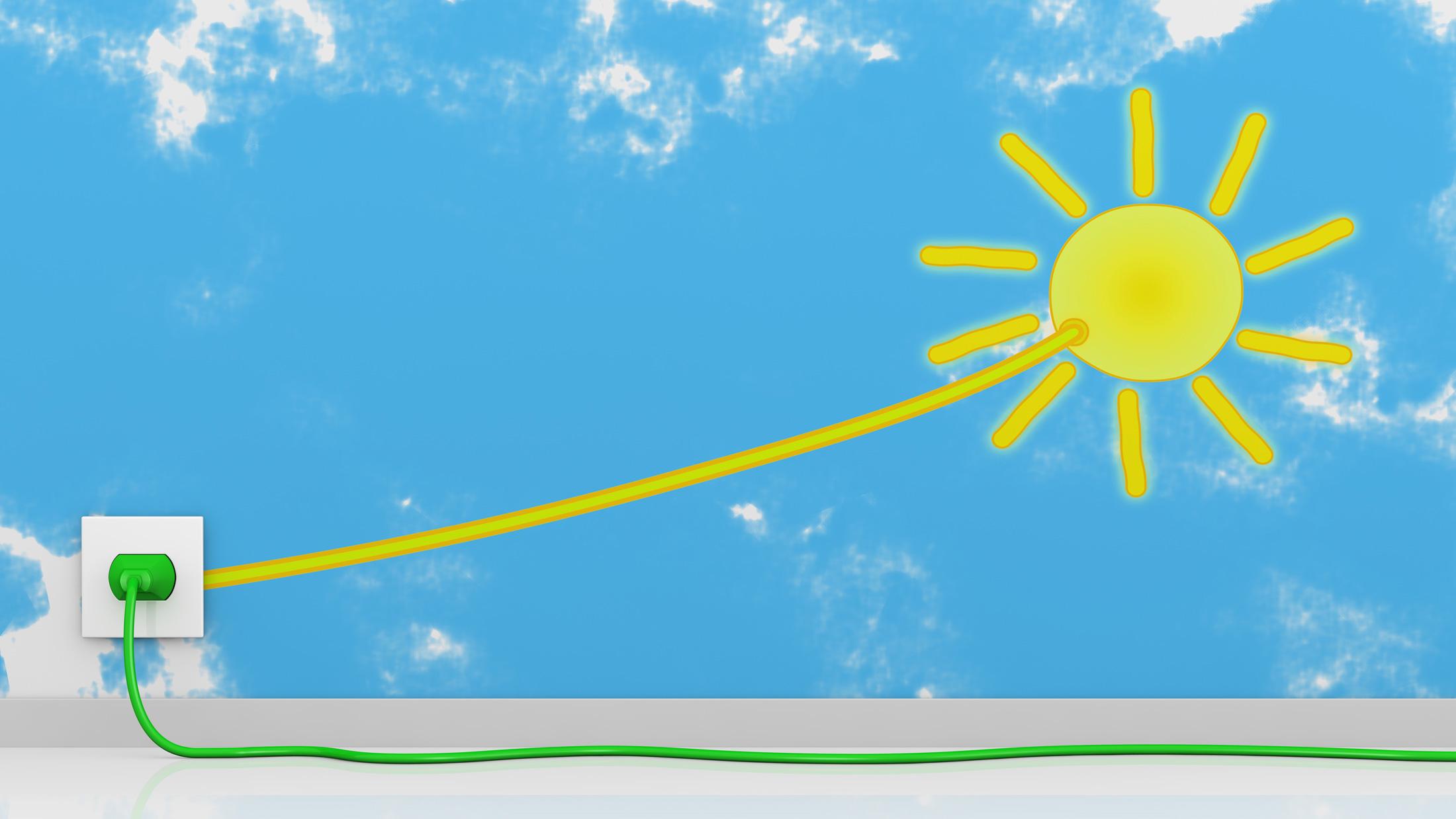 solar sun power plug