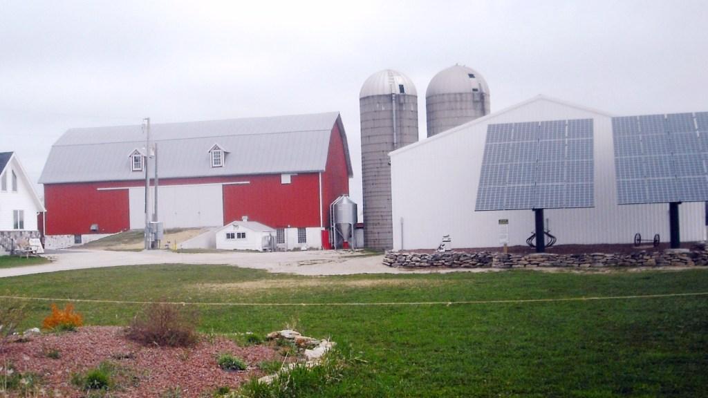 Solar panels at a Wisconsin farm