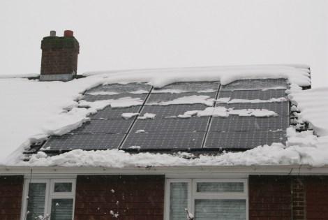 Solar panels vs. blizzard