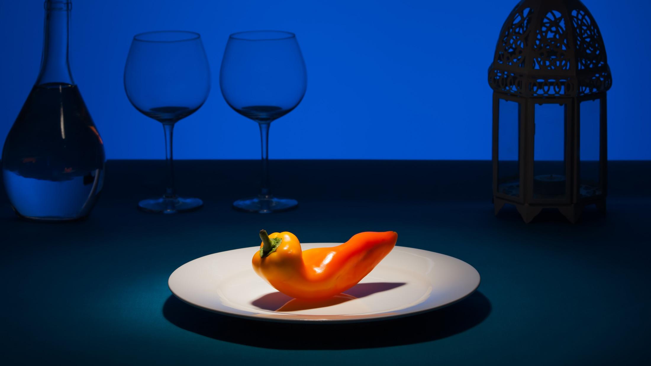 Dramatic spotlight on pepper