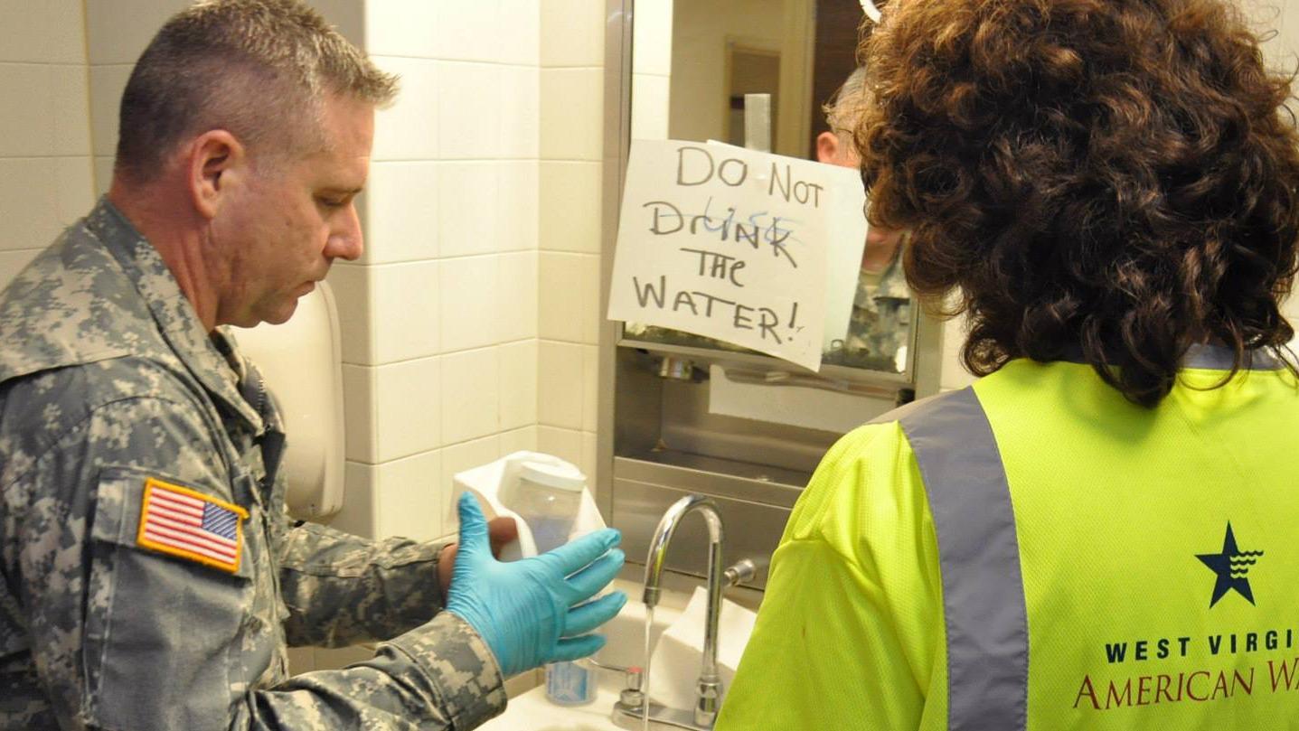 Water testing in West Virginia