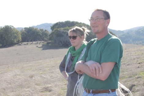 John Wick and Lynette Niebrugge, soil scientist for the Marin Resource Conservation District