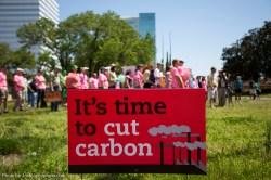 Cut carbon sign