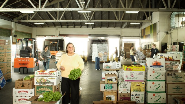 Bu Nygrens, director of purchasing for Veritable Vegetable