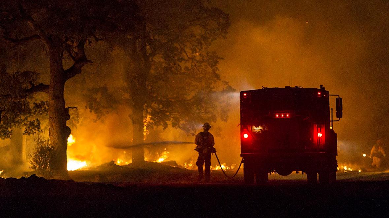A fire in California