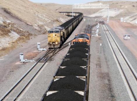 Coal Trains in Campbell County USA