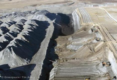 Strip mining coal in the Powder River Basin