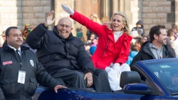 Grand Marshals John and Debbie Dingell in the 2012 Thanksgiving Day Parade