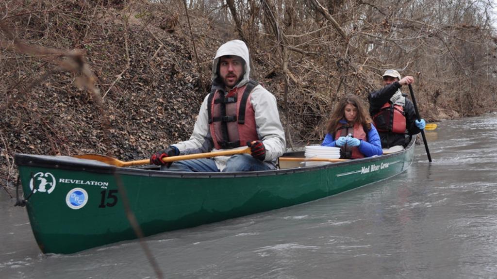 Water sampling Dan River