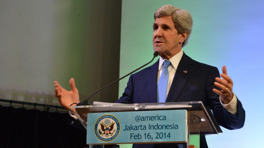 John Kerry speaks in Indonesia