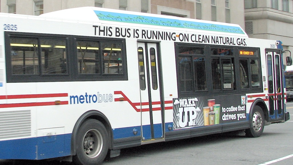 natural gas bus in DC