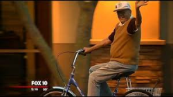 Old guy on a bike