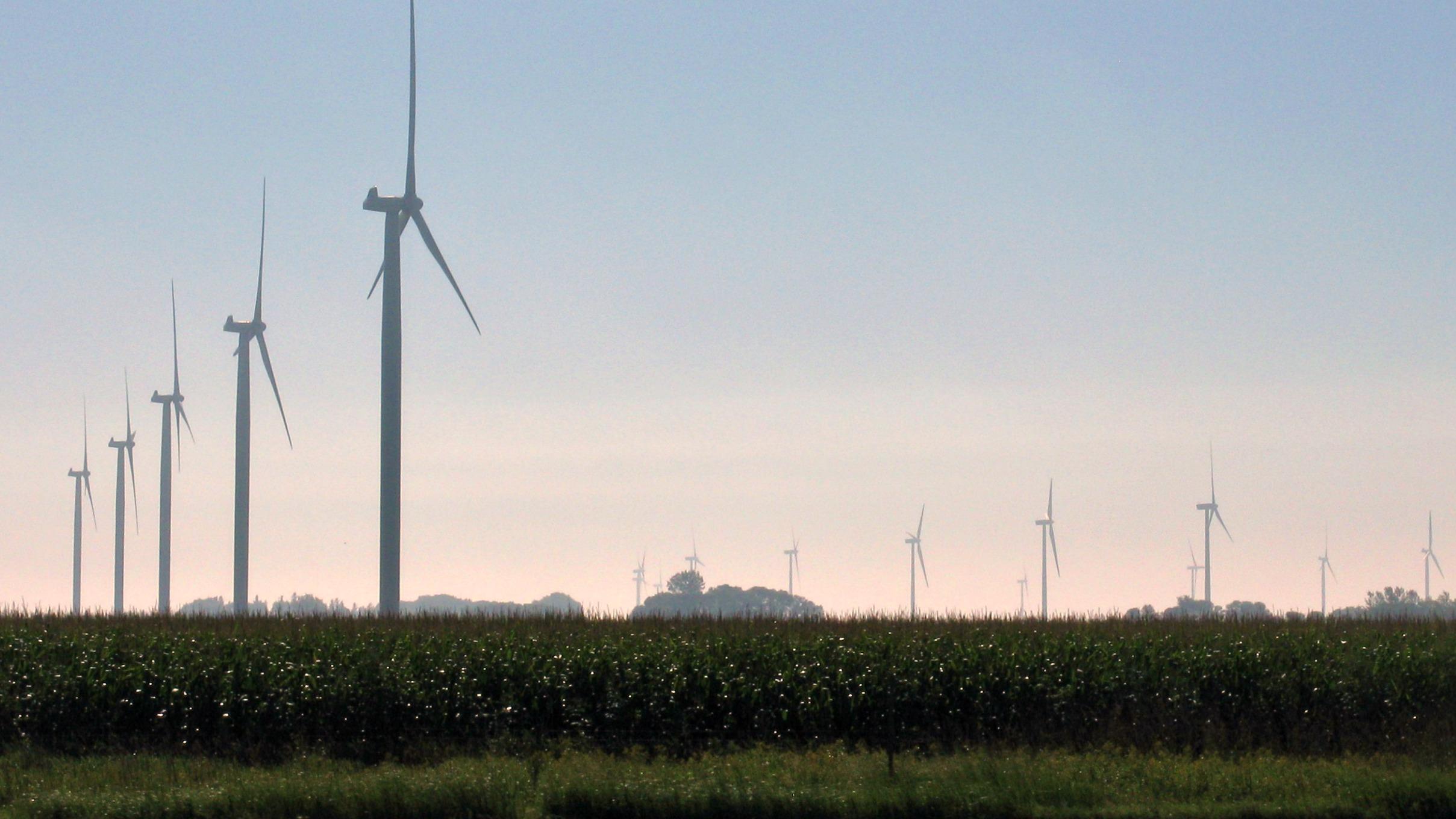 Wind turbines in South Dakota