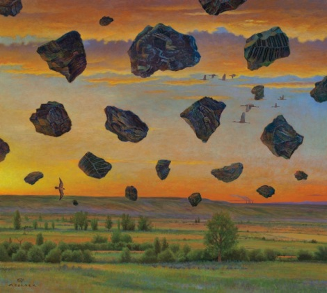 "In ""Suspension Of Belief,"" Dolack imagines visible coal air pollution."