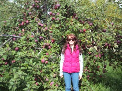 Lisa Andrews, student and orchard frolicker.