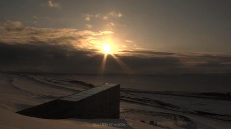 """The seed vault """"ark"""" in Svalbard, Norway."""
