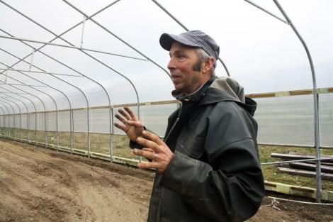 Joe Yarkin in the greenhouse where Buds of Vashon plans to grow.