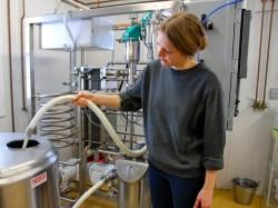 Jana Koschak, the dairy and food lab technician at Bobwhite Systems, demonstrates the LiLi.