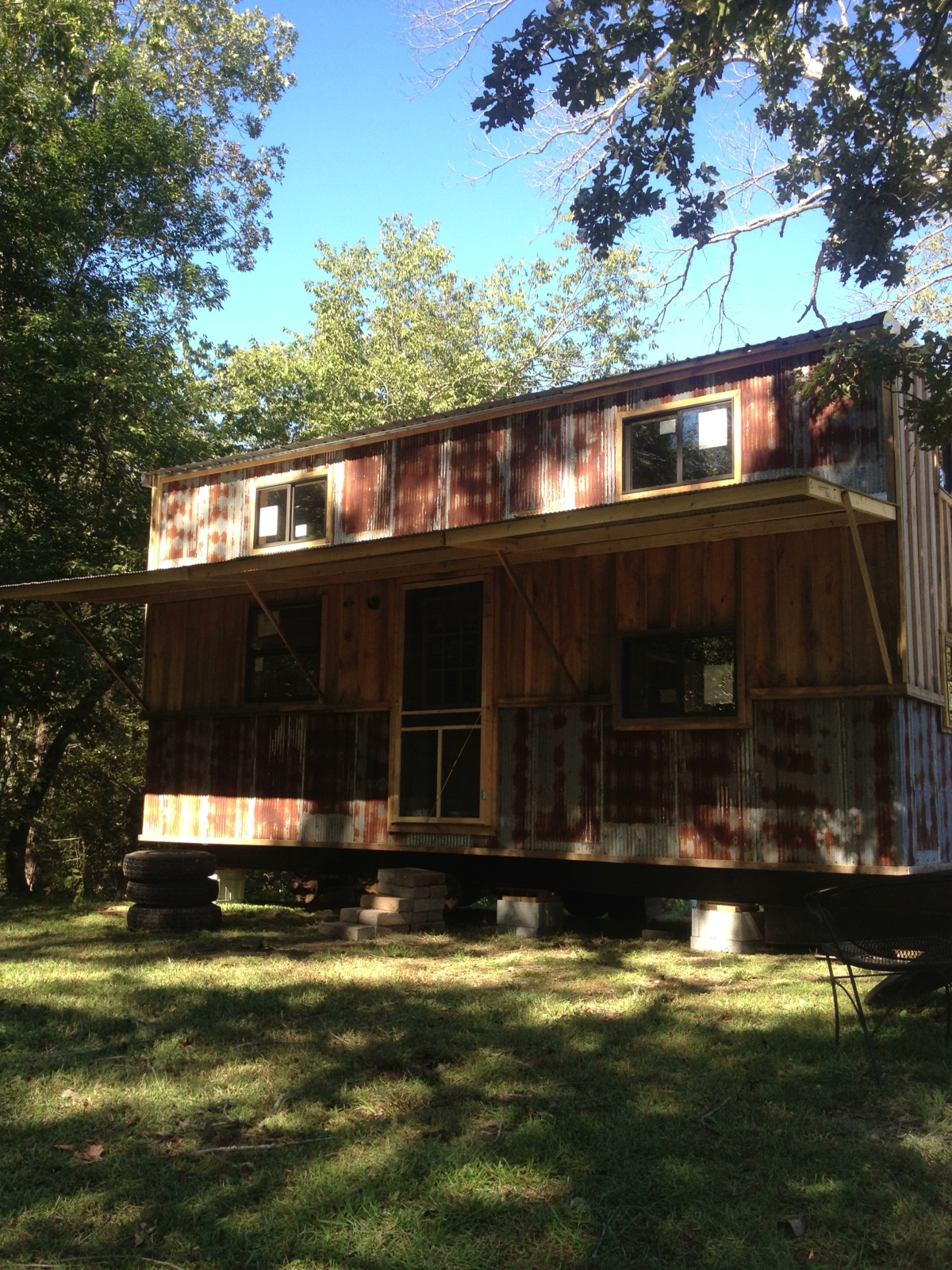 Cherae Stone's 240 square-foot house, made of Arkansas pine and corrugated tin, took just six months to construct.