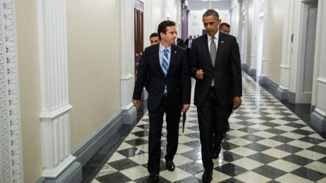 Brian Schatz and Barack Obama