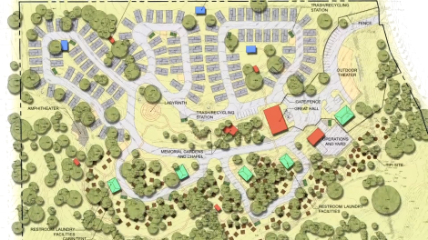 Mobile Loaves & Fishes' Community First! Village will cover 27 acres of land just outside of Austin, Texas, and include a mix of tiny houses, mobile homes, RVs.