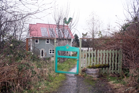 Joe Yarkin built solar panels on his roof at Sun Island Farms.