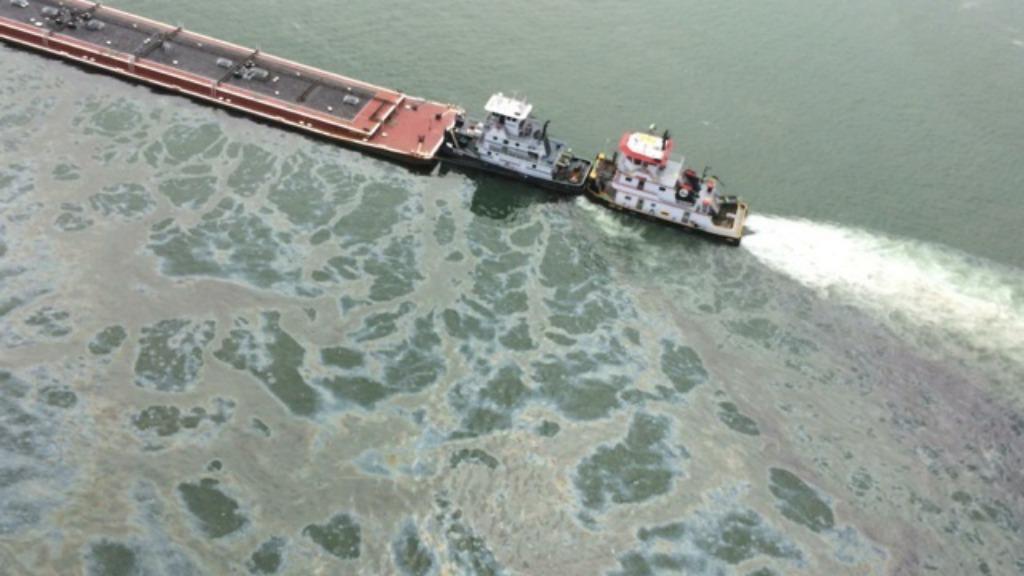 Oil spill off Texas