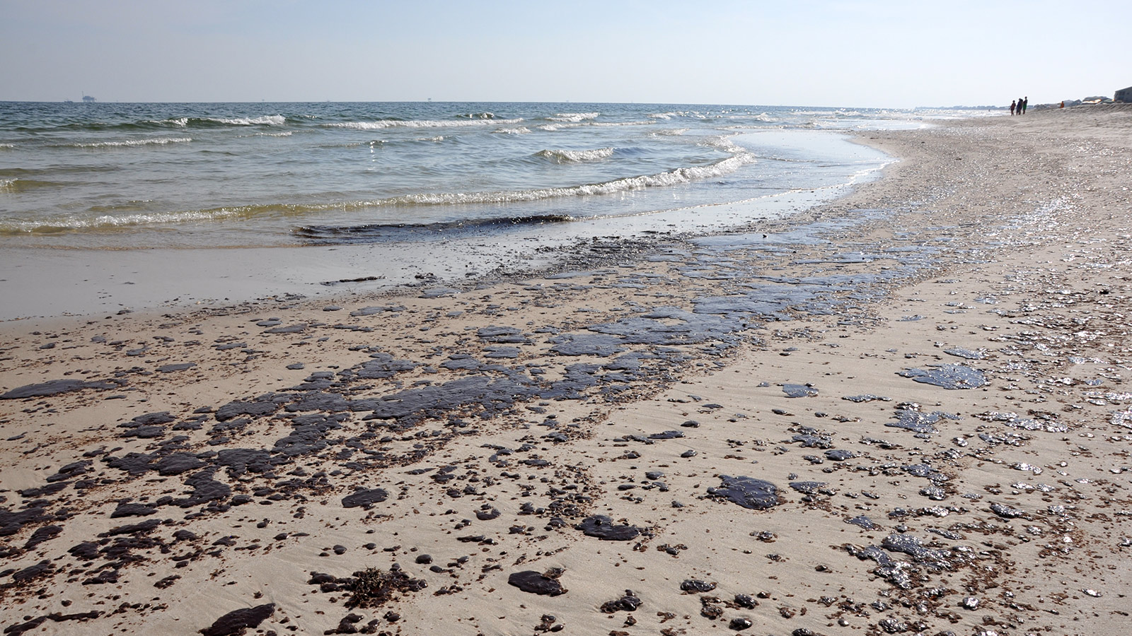 an oil-spattered Gulf Coast