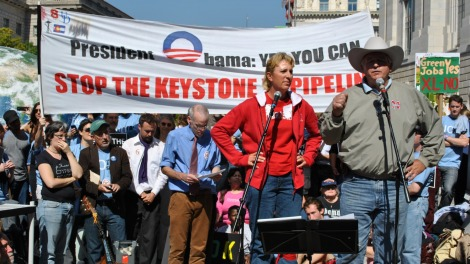 Farmer Randy Thompson sued Nebraska over TransCanada's use of eminent domain on his property.
